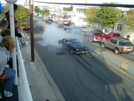 black 442 doing burnout