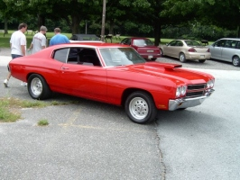 red chevelle with ugly hood