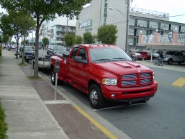 red dodge ram dually