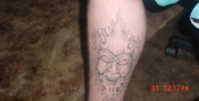 my leg tattoo
