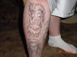 upper leg tattoo